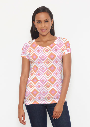 Cubed Pink (7809) ~ Signature Short Sleeve Scoop Shirt