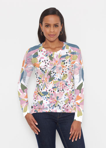 Floral Leopard (7810) ~ Signature Long Sleeve Crew Shirt