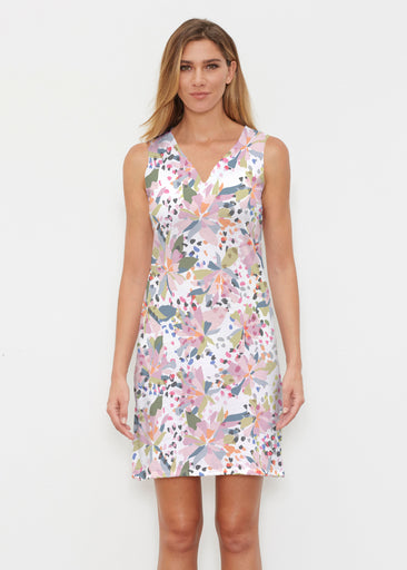 Floral Leopard (7810) ~ Classic Sleeveless Dress