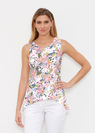 Floral Leopard (7810) ~ Signature High-low Tank