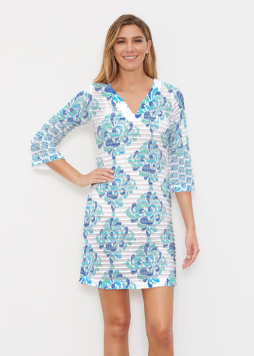Be Jeweled (7811) ~ Banded 3/4 Sleeve Cover-up Dress