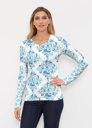 Be Jeweled (7811) ~ Thermal Long Sleeve Crew Shirt