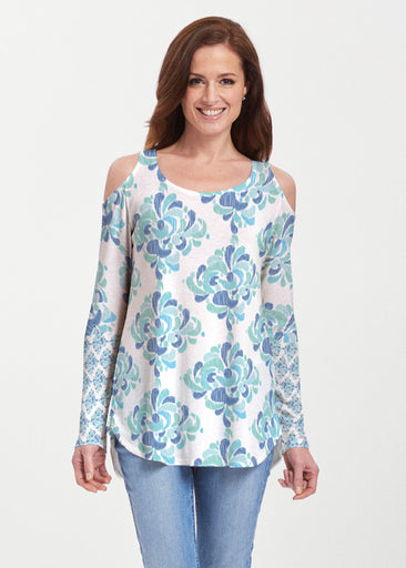 Be Jeweled (7811) ~ Butterknit Cold Shoulder Tunic