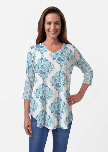 Be Jeweled (7811) ~ Butterknit V-neck Flowy Tunic