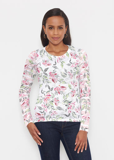 Coral Blooms (7812) ~ Signature Long Sleeve Crew Shirt