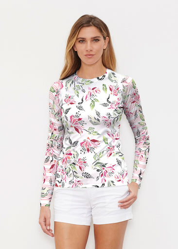 Coral Blooms (7812) ~ Long Sleeve Rash Guard