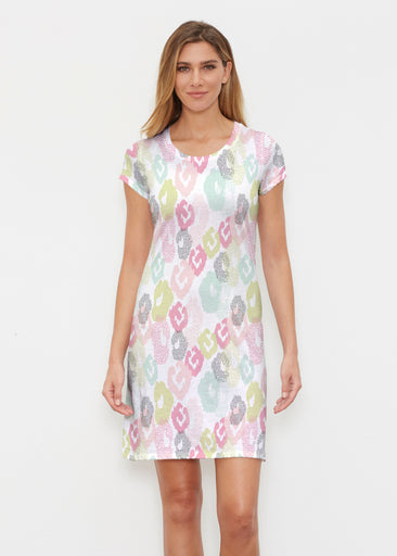 Abstract Pastel Ikat (7813) ~ Classic Crew Dress