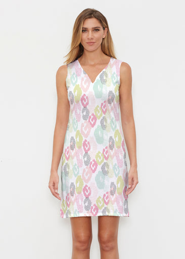 Abstract Pastel Ikat (7813) ~ Classic Sleeveless Dress