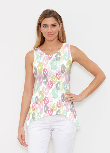 Abstract Pastel Ikat (7813) ~ Signature High-low Tank