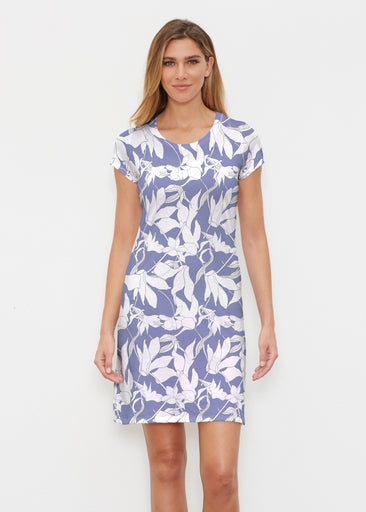Sketch Floral Dominos (7814) ~ Classic Crew Dress