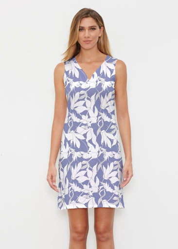 Sketch Floral Dominos (7814) ~ Classic Sleeveless Dress