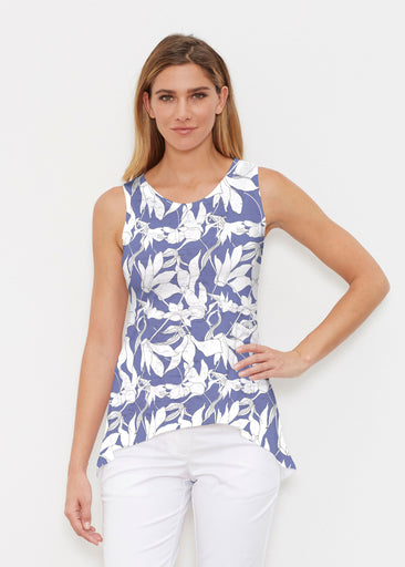 Sketch Floral Dominos (7814) ~ Signature High-low Tank
