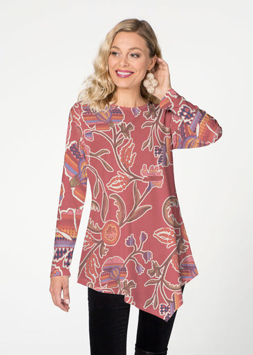 Patterns at Play Apricot (7826) ~ Asymmetrical French Terry Tunic