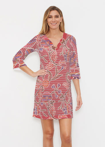 Patterns At Play Apricot (7826) ~ Banded 3/4 Sleeve Cover-up Dress