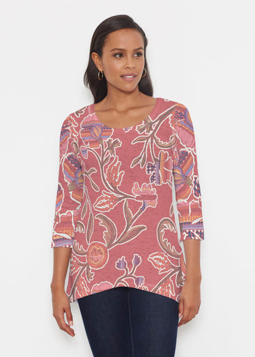 Patterns At Play Apricot (7826) ~ Katherine Hi-Lo Thermal Tunic