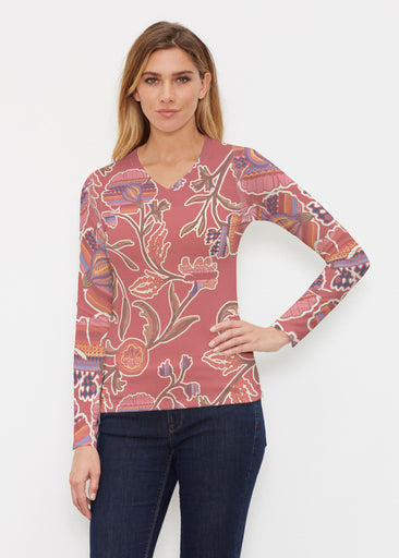 Patterns At Play Apricot (7826) ~ Butterknit Long Sleeve V-Neck Top