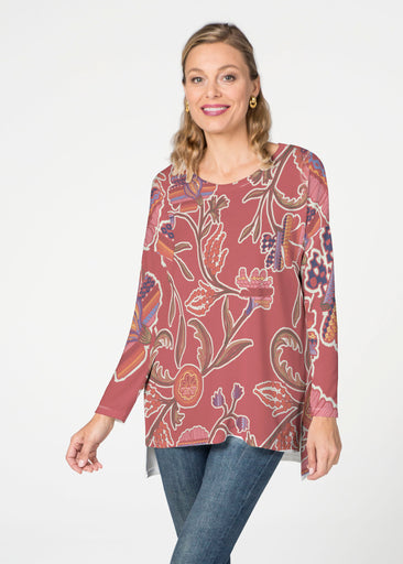 Patterns At Play Apricot (7826) Slouchy Butterknit Top