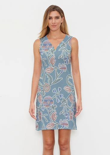 Patterns At Play Blue (7827) ~ Classic Sleeveless Dress