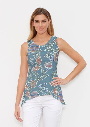 Patterns At Play Blue (7827) ~ Signature High-low Tank