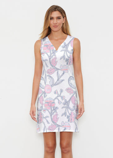 Patterns at Play Pink (7839) ~ Classic Sleeveless Dress