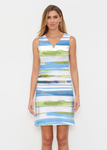 Multi Stripe Blue (7843) ~ Vivid Sleeveless Dress
