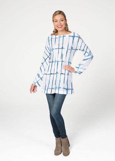 Knotted Tie Dye (7844) ~ Banded Boatneck Tunic