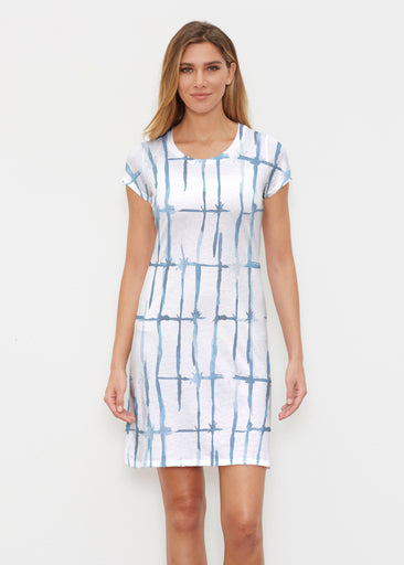 Knotted Tie Dye (7844) ~ Classic Crew Dress