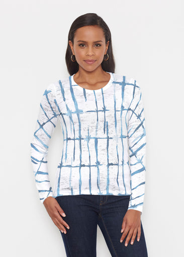 Knotted Tie Dye (7844) ~ Signature Long Sleeve Crew Shirt