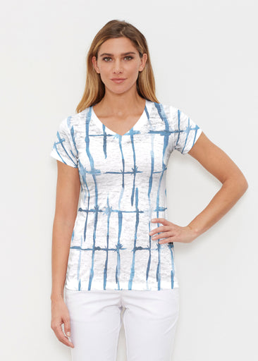 Knotted Tie Dye (7844) ~ Signature Cap Sleeve V-Neck Shirt