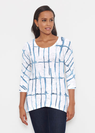Knotted Tie Dye (7844) ~ Katherine Hi-Lo Thermal Tunic