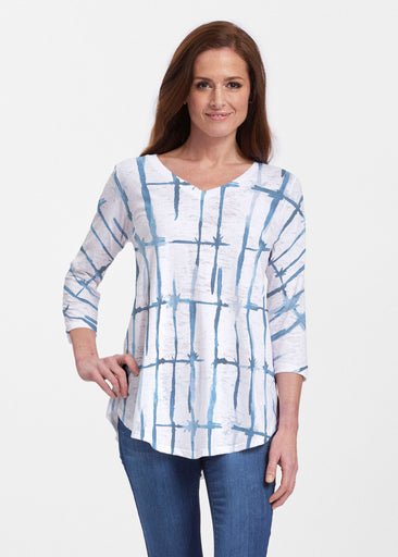 Knotted Tie Dye (7844) ~ Signature V-neck Flowy Tunic
