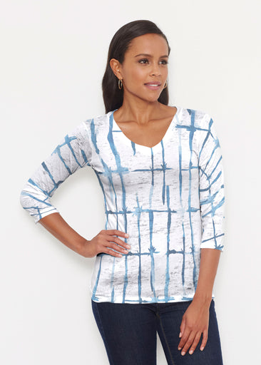 Knotted Tie Dye (7844) ~ Signature 3/4 V-Neck Shirt