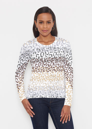 Leopard Ombre (7845) ~ Signature Long Sleeve Crew Shirt