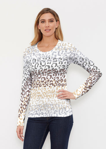 Leopard Ombre (7845) ~ Thermal Long Sleeve Crew Shirt
