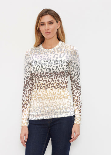 Leopard Ombre (7845) ~ Butterknit Long Sleeve Crew Top