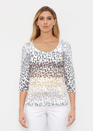 Copy of Leopard Ombre (7845) ~ Signature 3/4 Sleeve Scoop Shirt