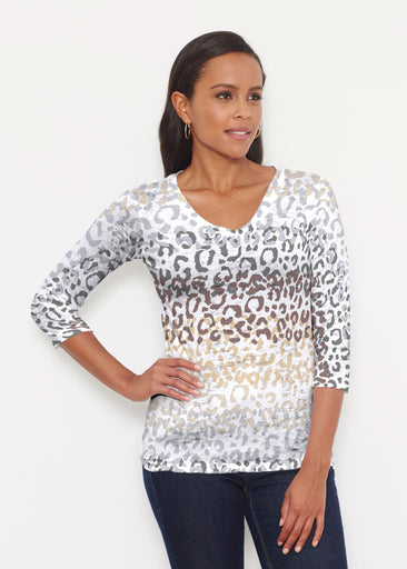 Leopard Ombre (7845) ~ Signature 3/4 V-Neck Shirt