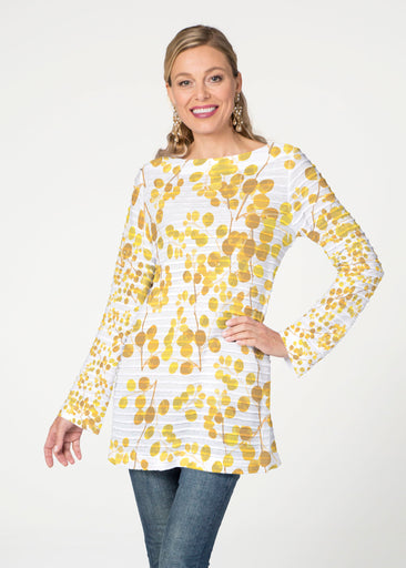 Golden Pome (7846) ~ Banded Boat Neck Tunic