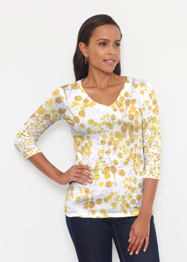 Golden Pome (7846) ~ Signature 3/4 V-Neck Shirt