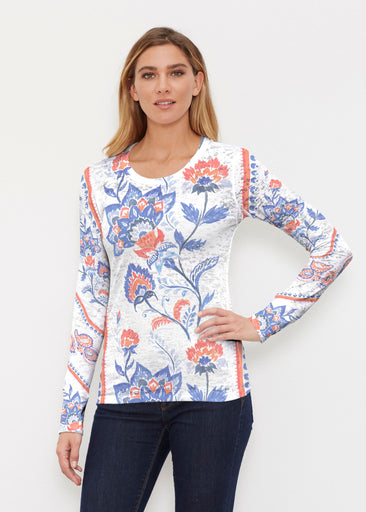 Bohemian Chintz (7847) ~ Thermal Long Sleeve Crew Shirt