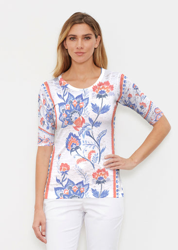 Bohemian Chintz (7847) ~ Signature Elbow Sleeve Crew Shirt