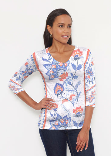 Bohemian Chintz (7847) ~ Signature 3/4 V-Neck Shirt