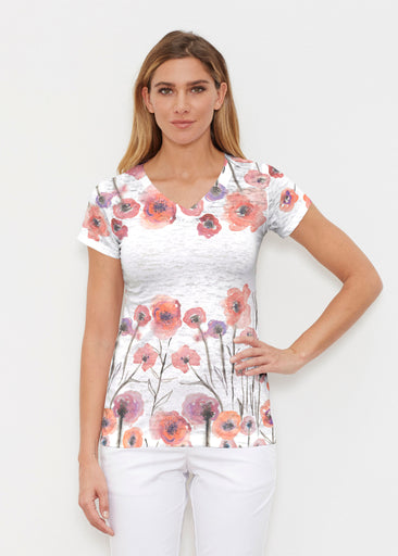 Meadow (7848) ~ Signature Cap Sleeve V-Neck Shirt
