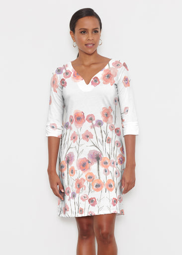 Meadow (7848) ~ Classic 3/4 Sleeve Sweet Heart V-Neck Dress