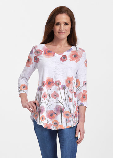 Meadow (7848) ~ Signature V-neck Flowy Tunic