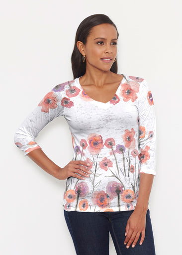 Meadow (7848) ~ Signature 3/4 V-Neck Shirt