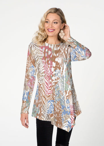 Jungle Warrior (7849) ~ Asymmetrical French Terry Tunic