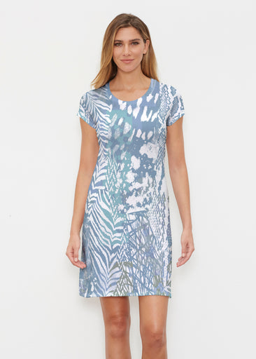 Jungle Warrior Blue (7850) ~ Classic Crew Dress