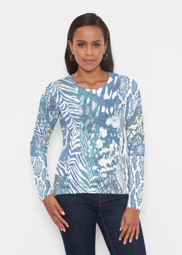 Jungle Warrior Blue (7850) ~ Signature Long Sleeve Crew Shirt