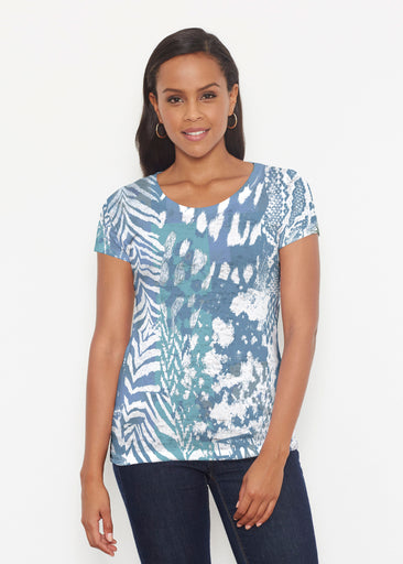 Jungle Warrior Blue (7850) ~ Signature Short Sleeve Scoop Shirt
